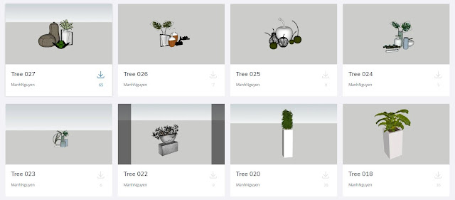 Plants Collection Sketchup Model , 3d free , sketchup models , free 3d models , 3d model free download