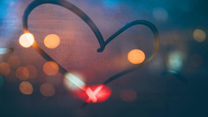 Coração Apaixonado Feito no Vidro