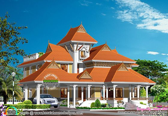 Kerala traditional luxury home plan