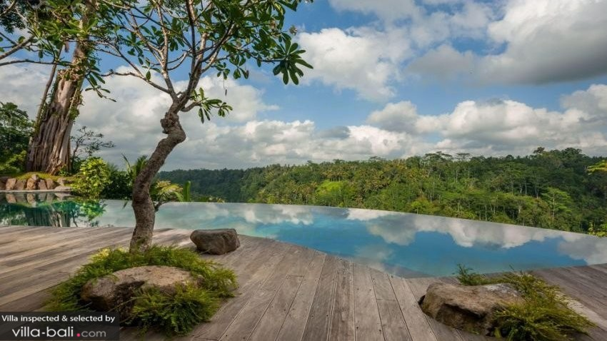 Luxurious Balinese Villa Infinity Pool Jungle Views