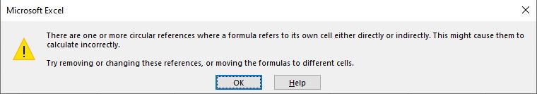 المرجع الدائري في برنامج Excel