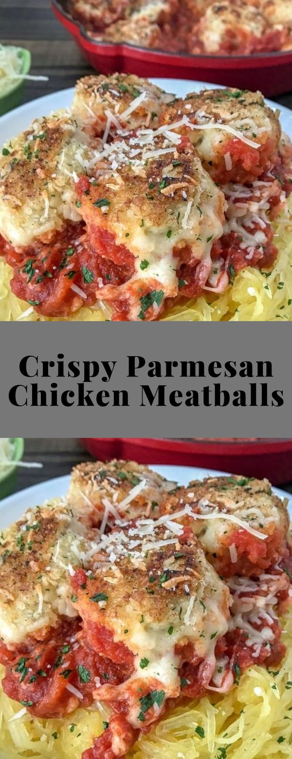 Crispy Parmesan Chicken Meatballs #maincourse #spaghetti #appetizer