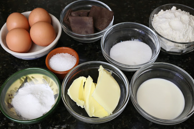 Ingredientes para pastel de chocolate
