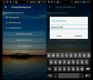 BBM MOD Transparan v3.3.1.24 Fitur Online Background Terbaru