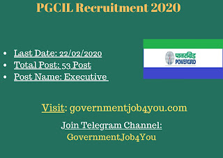 PGCIL Recruitment 2020: Power Grid Corporation of India Limited is invites online application form for the posts of Executive Trainee 25th batch Posts. There are total 53 vacancies available for these posts Eligible and Interested candidates may apply online through the official website www.powergridindia.com. The last date for submission of online application form is 20th February 2020. More deails about PGCIL Recruitment 2020 like application and online application link are given below.