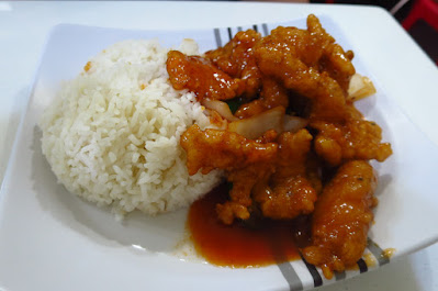 Tian Fu Ren Jia (天府人家), sweet and sour fish rice (糖醋鱼饭)