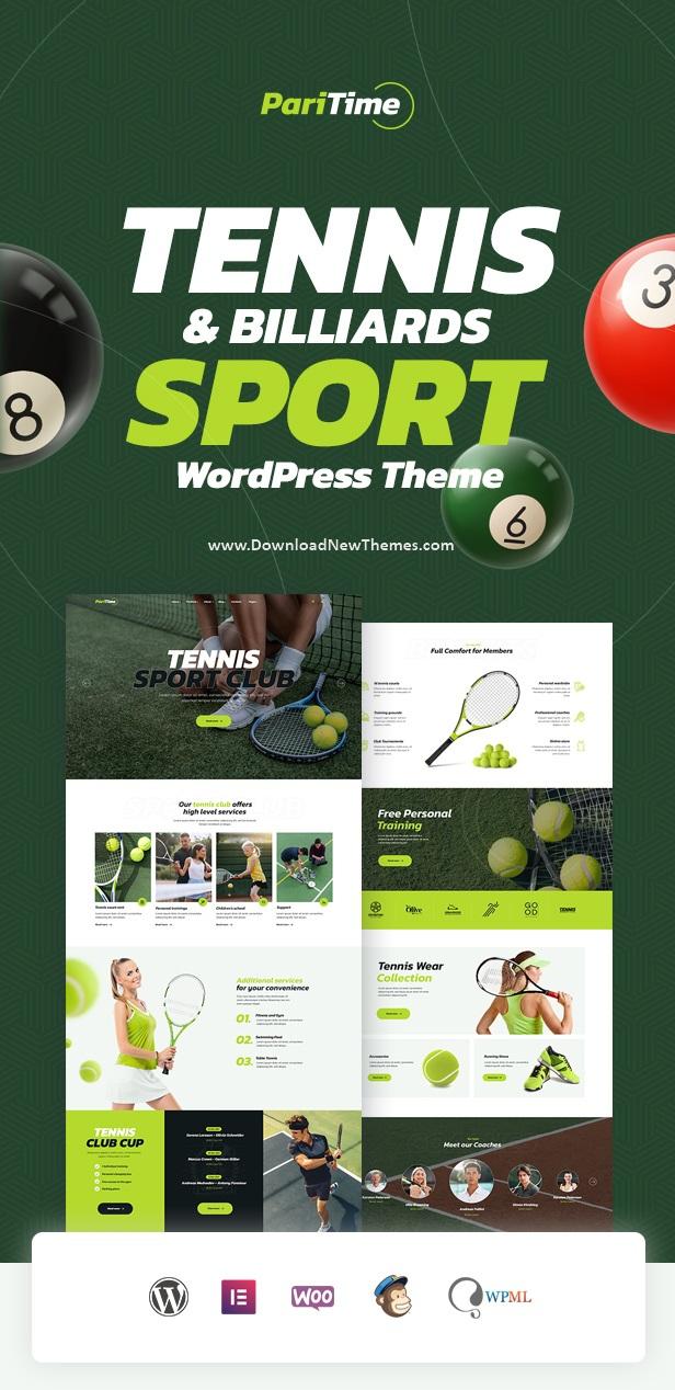 Tennis Club WordPress Theme