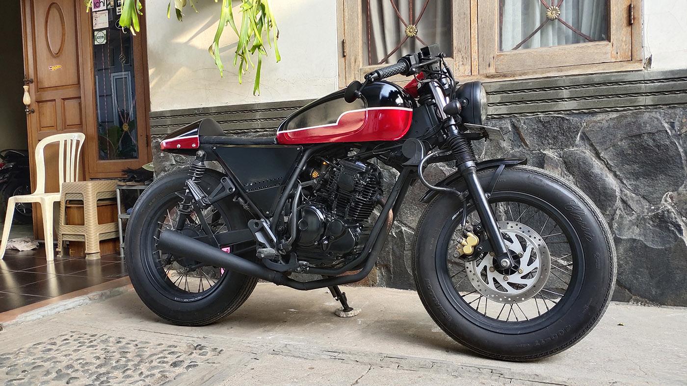 Tampilan pertama baru beli motor custom