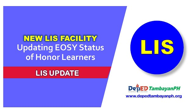 Updating EOSY Status of Honor Learners in LIS Website