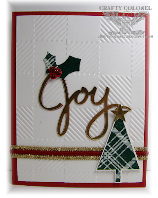CraftyColonel Donna Nuce for Cards in Envy Challenge, Christmas Card Stampin Up