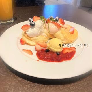 苺ティラミスパンケーキ
