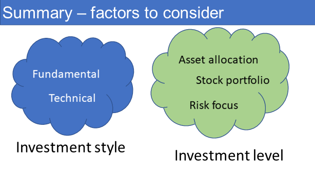 Summary on how much to invest in stocks