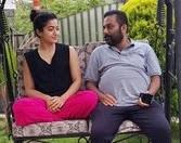 rasmika mandana with her father