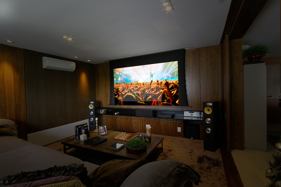 Well known sala home theater projeto lm47 ivango - Sala home theatre ...