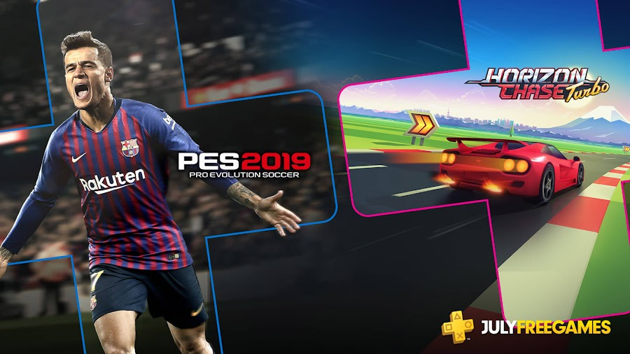 playstation plus free games july 2019 pro evolution soccer 2019 horizon chase turbo