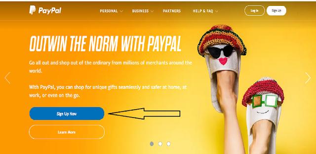 Halaman web paypal