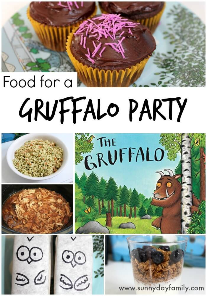 A Gruffalo Birthday Party Menu! Fabulous ideas for kid friendly food based on The Gruffalo.