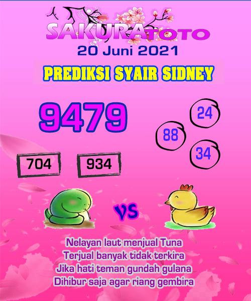 Syair Sakuratoto Sidney Minggu 20 Juni 2021