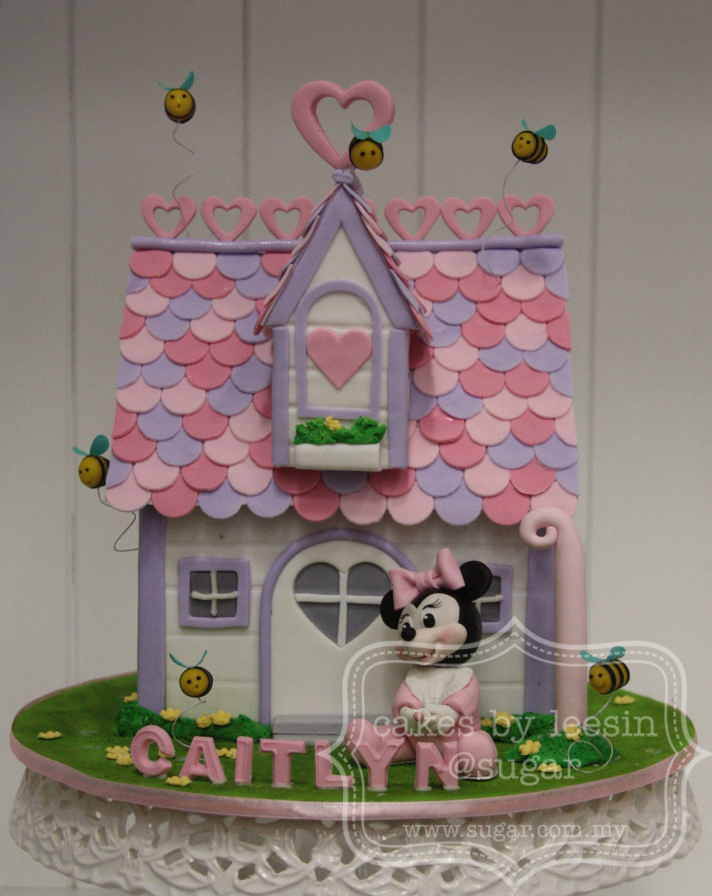 Penang Wedding Cakes By Leesin Minnie Mouse And House