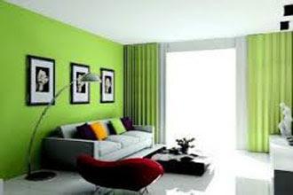 kombinasi warna cat ruang tamu 2 warna yang bagus