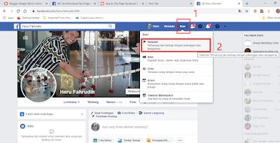 Masuk ke Beranda Facebook dan Klik Buat Halaman