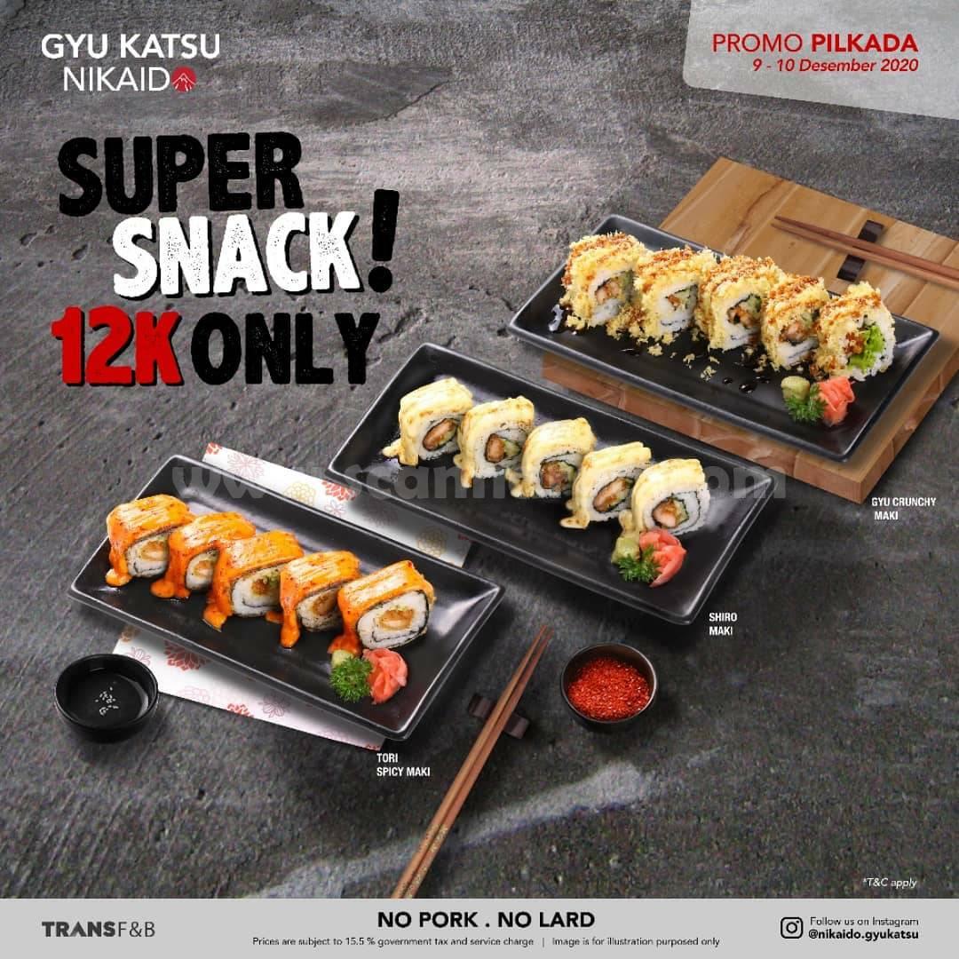 Promo Nikaido Gyukatsu Pilkada - Super Snack harga cuma Rp 12.000