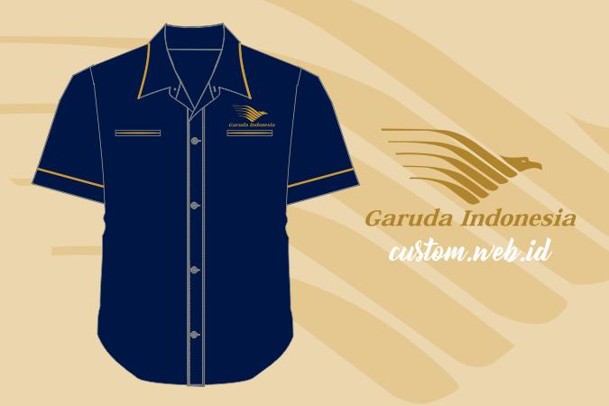 Bikin Custom Kemeja Satuan Bordir Komputer Garuda Indonesia di Custom.web.id