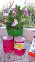 roze citronella kaars