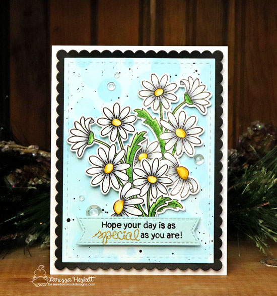 Special Day Daisy Card by Larissa Heskett | Dainty Daisies Stamp Set and Frames & Flags Die Set by Newton's Nook Designs #newtonsnook #handmade