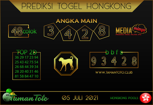 Prediksi Togel HONGKONG TAMAN TOTO 05 JULI 2021