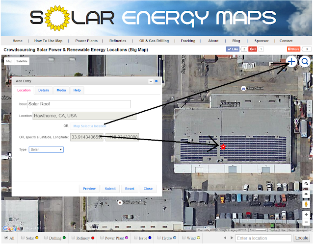 how to add solar roof to map database