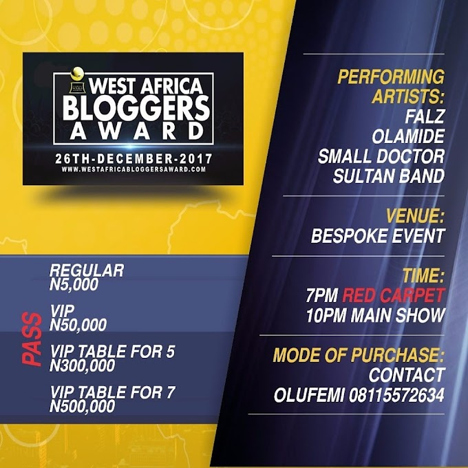Falz, Olamide and more for West Africa Bloggers Award 2017