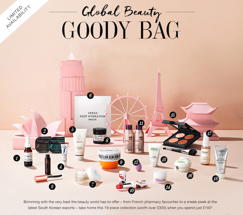 Cult Beauty Global Beauty Goody Bag 2017: Rush To Get Yours!