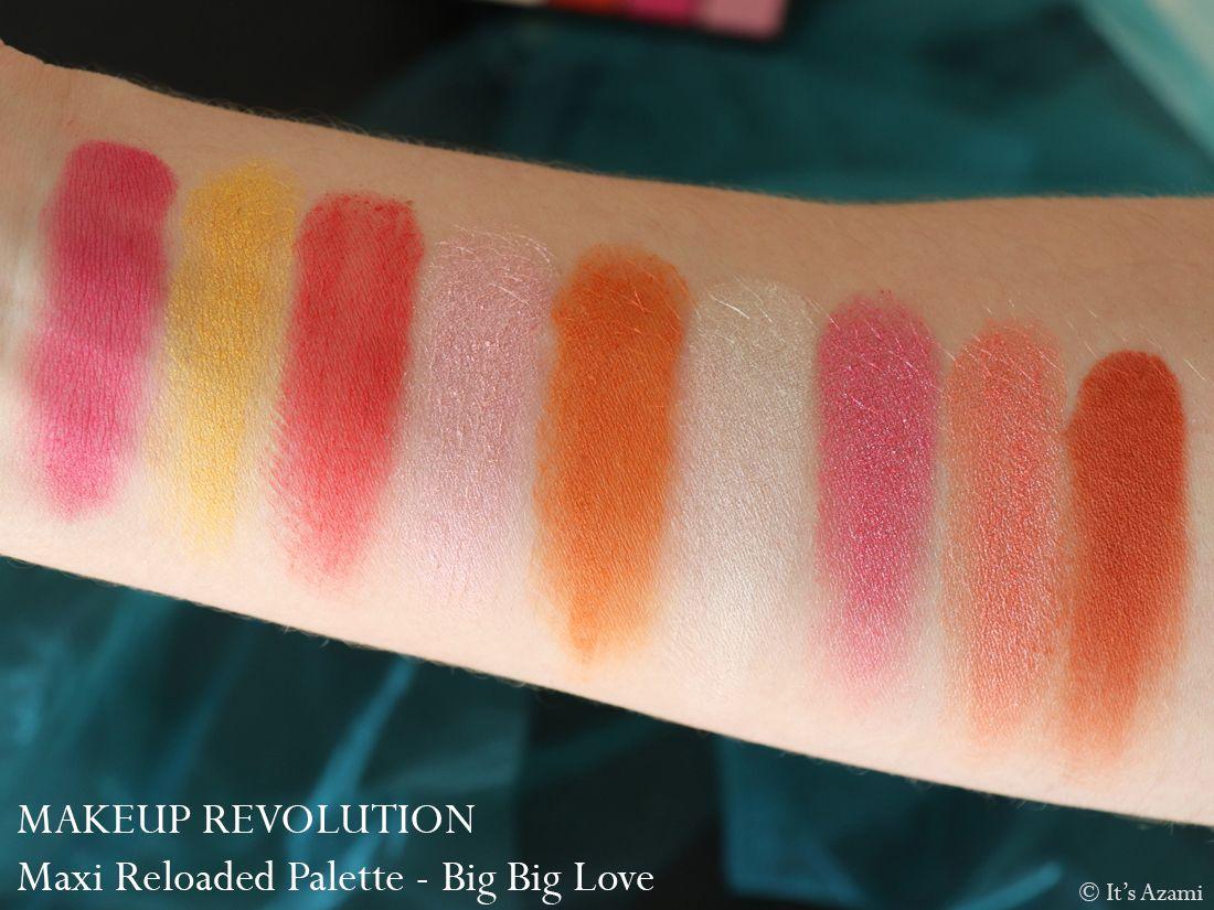Makeup Revolution Maxi Reloaded Eyeshadow Palettes Review Swatches Avis - Paris London Makeup Artist Beauty Blogger Youtuber - Dream Big - Big Big Love - Monster Mattes - Large it Up It's Azami