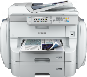per centum less ability than competitive coloring fabric lasers Epson Workforce Pro WF-R8590 DTWF Driver Downloads
