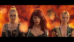 Taylor Swift performing Bad Blood