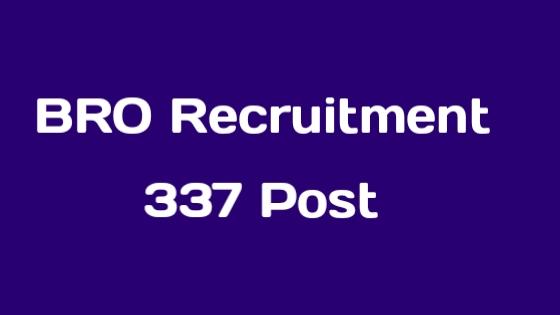 BRO Recruitment 2019