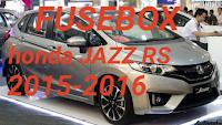 letak box sekring HONDA JAZZ RS 2015-2016