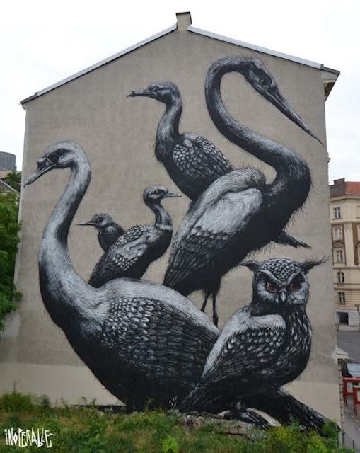 Grafiti Terbaik 2015 - Berbagai Macam Hewan, Dan burung