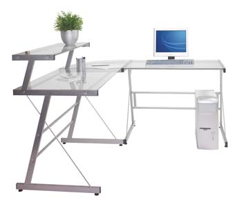 Miami Gl Corner Computer Desk