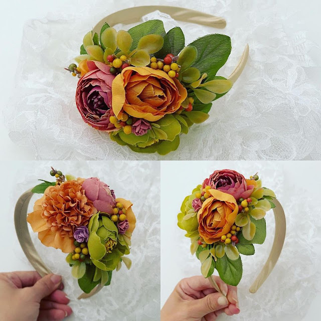 Dreamy floral headband crafted by Christina Klamer