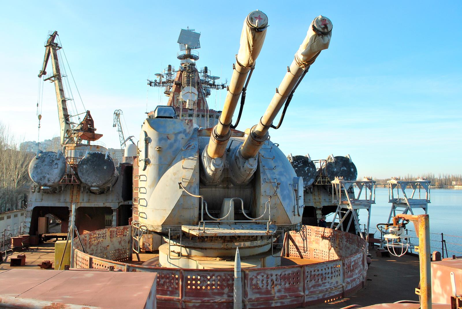 Недобудований крейсер проекту 1164 демілітаризують