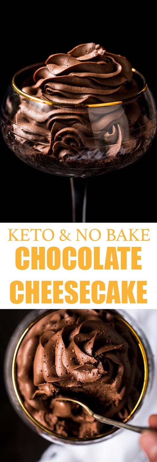 No Bake Chocolate Cheesecake (Gluten Free & Keto)