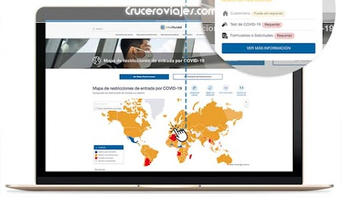 Consulta el mapa interactivo de InterMundial y viaja  con seguridad