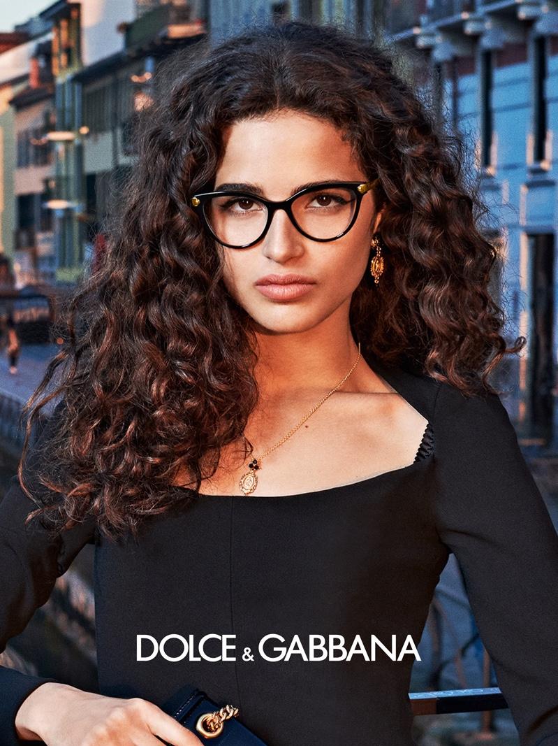Chiara Scelsi appears in Dolce & Gabbana Eyewear fall-winter 2019 campaign