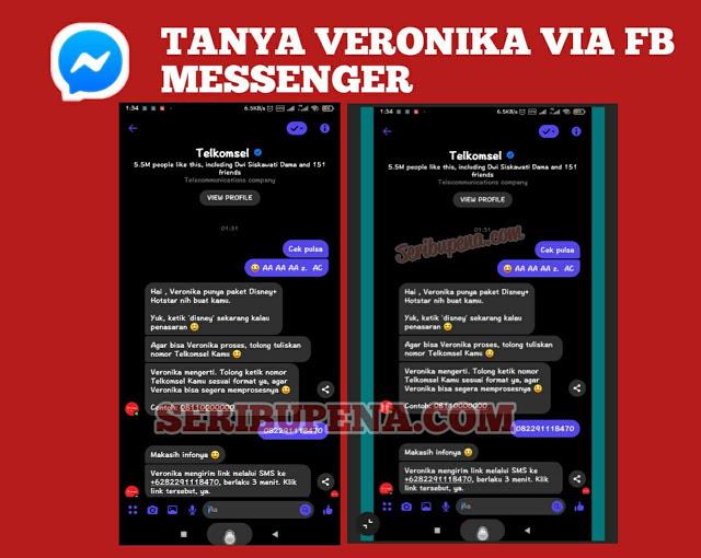 Chat Veronika Asisten Virtual Telkomsel di facebook