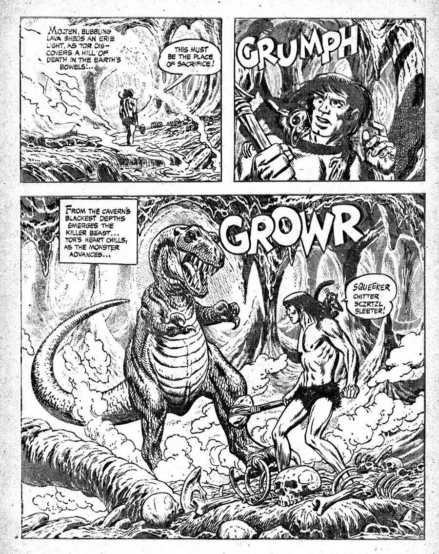 Tor v1 #2A st john golden age comic book page art by Joe Kubert
