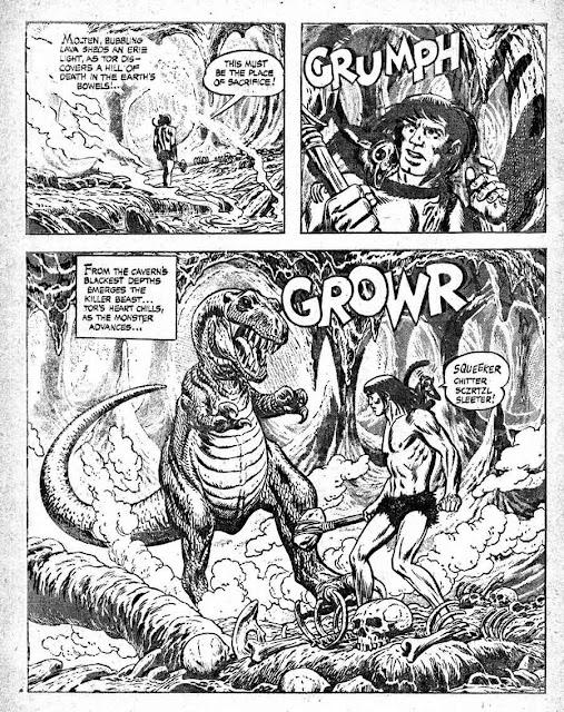 Tor v1 #2A st john golden age comic book page art by Joe Kubert