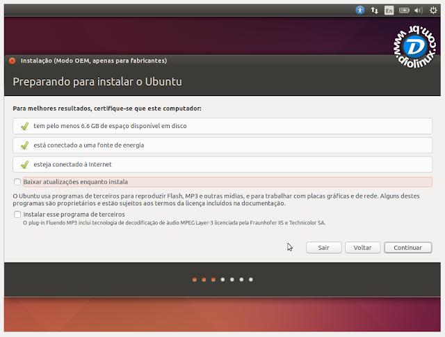 Como instalar o Ubuntu no modo OEM