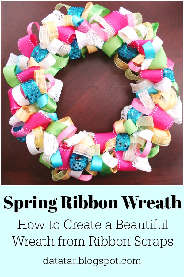 How to Create a Colorful Looped Ribbon Wreath from Scraps